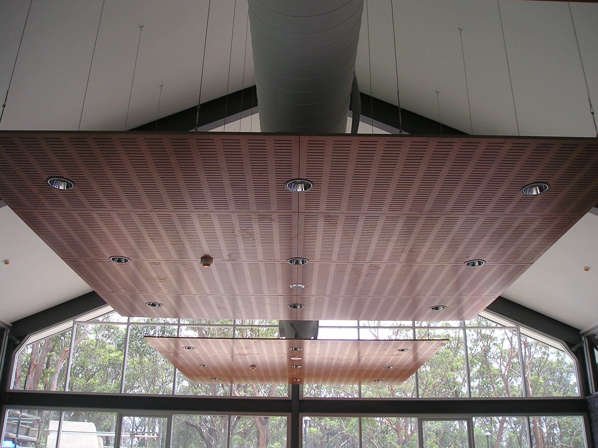Suspended Ceiling Panel of Wood