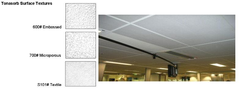 Sonofonic Acoustic Ceiling Panel Textures