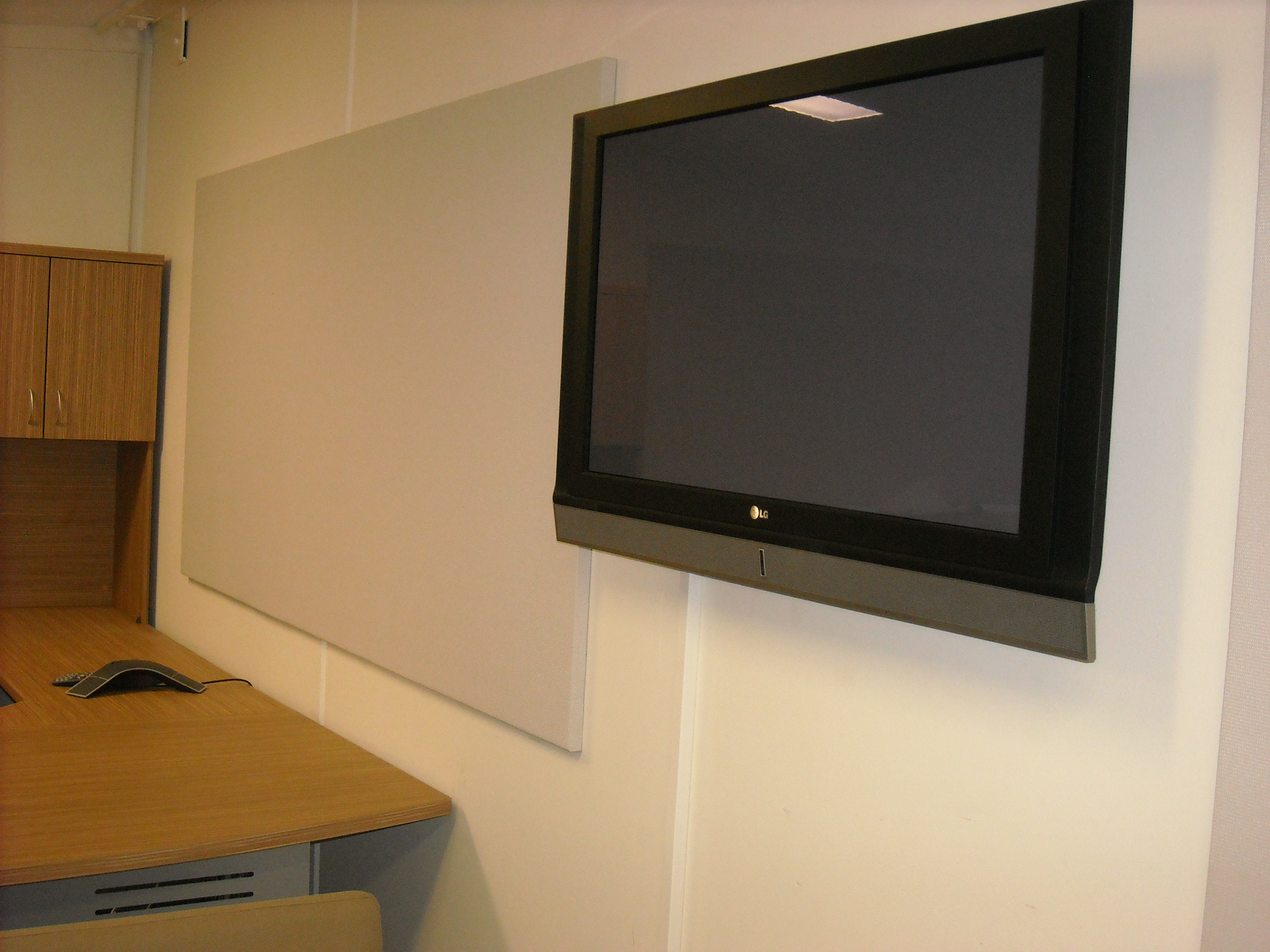 Acoustic Panels in Video Conferencing room